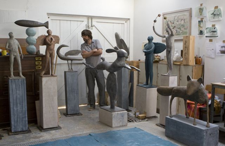 Christopher in his studio